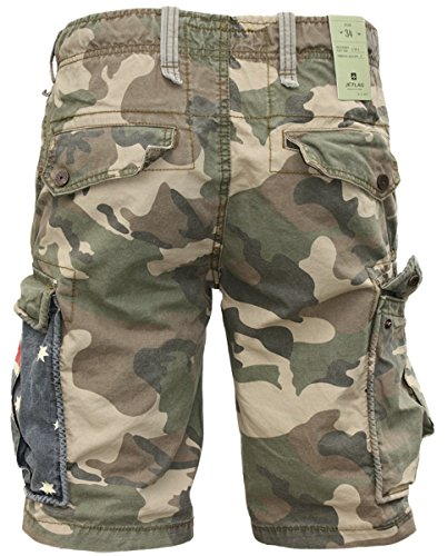 JET lAG short cargo camouflage yC 22 army green australie Multicolore - Camouflage