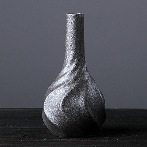 Floreale Moderno Home Decor Ceramica Vaso Fiori ornaments13.* 7.cm Black