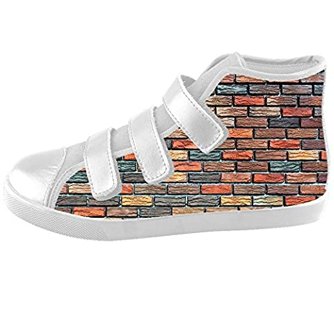 Custom Brick wall texture Kids High-top Canvas Shoes Footwear Sneakers Shoes