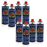 8x Gaskartuschen mit Ventil für Grill Lötlampe Campingkocher Gasheizung ★ Brenndauer bis zu 3h ★ Butangas MSF-1a 227g