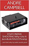 DSLR CINEMA SHOOTING Why I Use A JuicedLink RA222 Preamp: …and that's why my audio sounds great! (English Edition)
