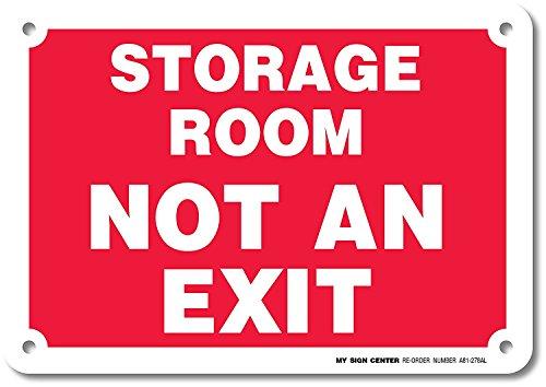 Eugene49Mor Stauraum Nicht Exit Schild–25,4x 17,8cm–.040Rost Kostenlose Schwere Pflicht Aluminium–Made in USA–Innen- und Außeneinsatz–A81–278AL