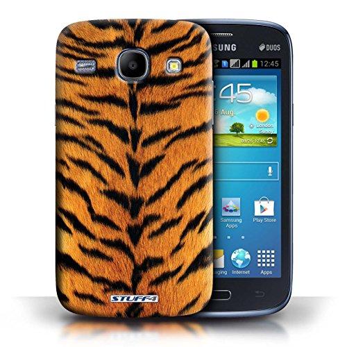 Coque en plastique pour Samsung Galaxy Core Collection Motif Fourrure Animale - Zèbre Tigre