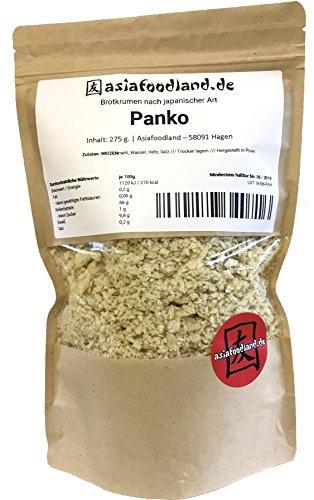 Asiafoodland – Premium Panko – Paniermehl – ohne Palmöl, ohne Zusatzstoffe, vegan – Panierbrot – Brotkrumen nach japanischer Art, 1er Pack (1 x 275g)