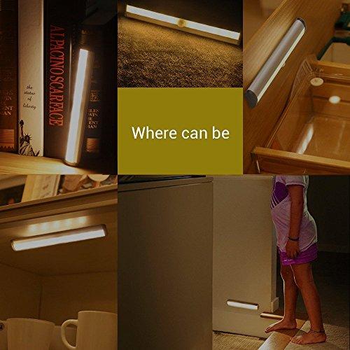 led unterbauleuchte warmwei 3000k miri kabellose schrankbeleuchtung mit bewegungssensor. Black Bedroom Furniture Sets. Home Design Ideas