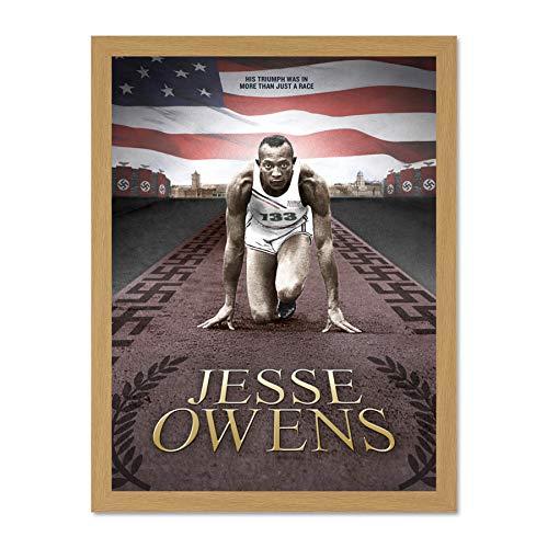 Doppelganger33 LTD Sport Memorial African American Olympic Ser Jesse Owens Large Framed Art Print Poster Wall Decor 18x24 inch Supplied Ready to Hang afrikanisch amerikanisch olympisch Wand Deko -