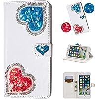Yobby iPhone 7 Plus Brieftasche Hülle,iPhone 8 Plus Diamant Geldbörse Handyhülle 3D Bling Flüssig Glitzer Süß... preisvergleich bei billige-tabletten.eu