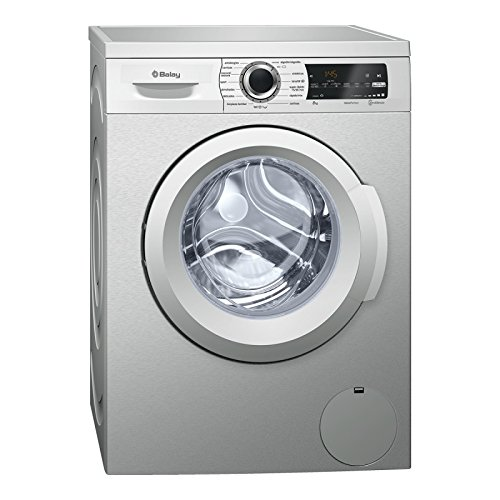 Balay 3TS986XT Independiente Carga frontal 8kg 1200RPM A+++ Acero inoxidable - Lavadora...