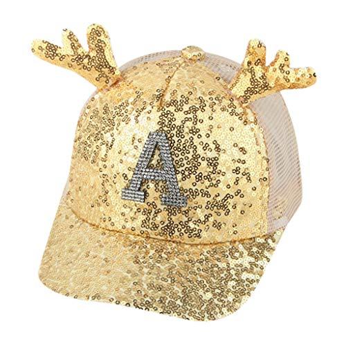 -Kind-Frauen Lady Paillette Hat Baseball Cap Sonnenhut Cap A ()