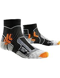 X-Socks Hombre Marathon Energy calcetín, Hombre, Marathon Energy, Negro y Naranja