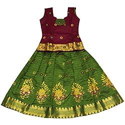 Kanakadara Self Design Girl's Lehenga Choli (Size:12-13 Years)