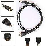 Tongshi 3 en 1 adaptador de HDMI a mini HDMI / / HDMI Micro Kit de cable HD para Tablet PC TV (0.5M)