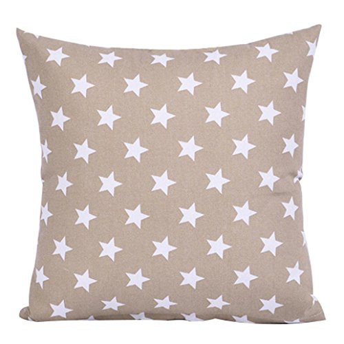 collectsound - Funda de cojín con diseño de Estrella para sofá o café, decoración Cuadrada