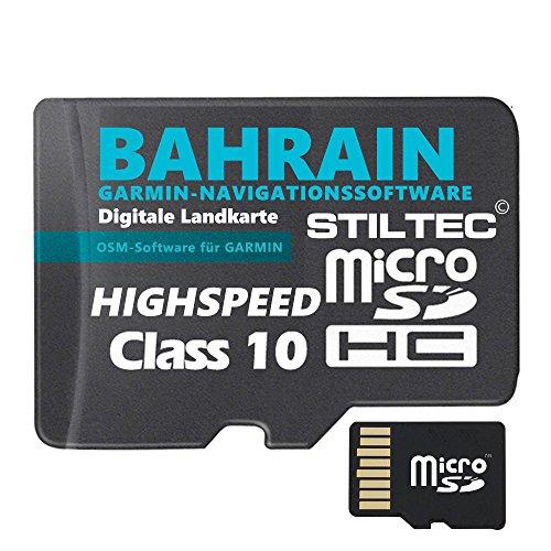 ★ Bahrain Topo GPS Karte GB microSD Card für Garmin Navi, PC & MAC für Garmin Navigationsgeräte Navigationssoftware ★ ORIGINAL von STILTEC © - Bahrain Karte Von