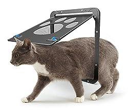 Haustierklappe Hundeklappen katzenklappe Kleine Haustier  Bildschirm Installieren Leicht mit abschließbar robust 29cm x 24cm (S, Black)