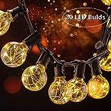 30 LED Lichterkette Glühbirne B-right G40 Lichterkette, strombetrieben, Innen- und Außen Lichterkette, wamrweiß. Weihnachtsbeleuchtung Lichterkette für Garten Balkon Weihnachten Hochzeit Party