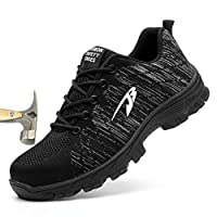KYCraft Steel Toe Shoes Work Safety Shoes for Men and Women Sneakers Shoes Anti-Smashing Lightweight Breathable Industrial Construction Shoes