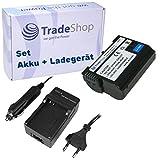 AKKU + LADEGERÄT passend für Nikon D500 D600 D610 D750 D850 D7000 D7100 D7200 D7500 D800 D800E D810 D810A D8000 Nikon 1 V1, Batteriegriff MB-D11 MB-D12 MB-D14 MB-D15 MB-D17 Batterieladegerät MH-25 MH-25a mit Infochip