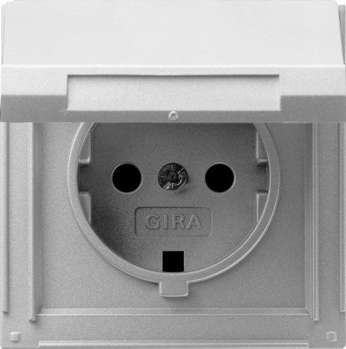 Gira Steckdose SCHUKO 045465 KD TX_44 (WG UP) Farbe Alu, 250 V, Aluminium -