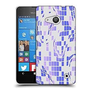 Snoogg Purple checkered Pattern 2558 Designer Protective Back Case Cover For Microsoft Lumia 550