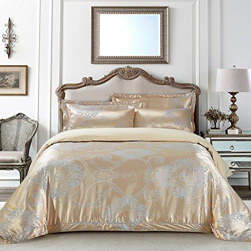 Dolce Bettbezug (dm506q Dolce Mela Betten-Verona, Luxus Jacquard Queen Size Bettbezug Set)