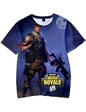 Camiseta Fortnite Estampado Top Sudaderas de Sport Manga Corta Blusa Camisetas Casual 3D Impresión Tops Fortnite...