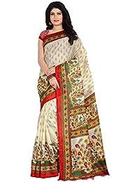 Venisa Women's Bhagalpuri Cotton Silk Saree (Vprv5001_Multicolor)