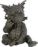 Figure de jardin dragon passe la roulette dans les dents
