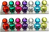 35 Assorted Color Magnetic Push Pins - Perfect for Maps, Whiteboards, Refrigerators(Pack of 35)