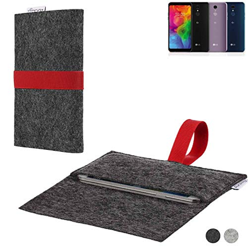 flat.design Handy Hülle Aveiro für LG Electronics Q7 Alfa passgenaue Filz Tasche Case Sleeve Made in Germany