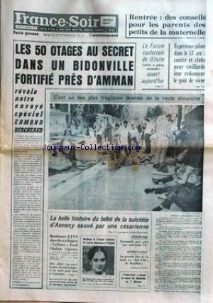 FRANCE SOIR du 15/09/1970 - LES 50 OTAGE...
