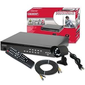 Eminent - EM6001 - Kit de surveillance vidéo avec enregistreur et caméra intérieur/extérieur (Import Allemagne)