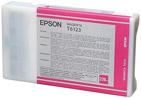 Epson T6123 Cartouche d'encre d'origine Magenta220Ml