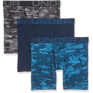 Under Armour Charged Cotton 6in 3 Pack Novelty Ropa Interior, Hombre
