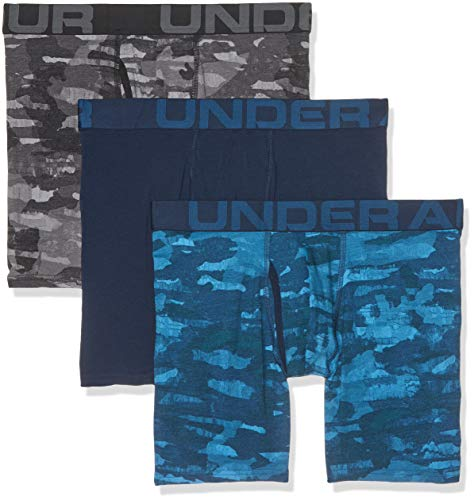 Charged Cotton 6in 3 Pack Novelty Unterhose, Blau, Large ()