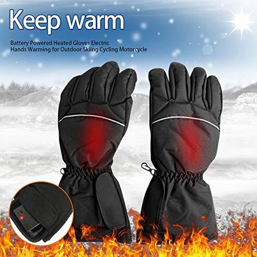 Guantes invierno cálidos eléctricos calentados pilas