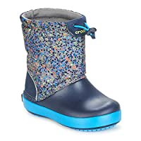 Crocs Crocband LodgePoint Graphic K Boots Enfant Grey/Blue Snow Boots
