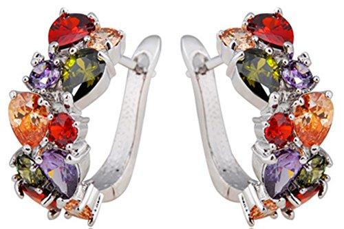saysure-hoop-earrings-for-women-10kt-white-gold-filled-earring