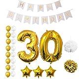 Globos Cumpleaños Happy Birthday, Suministros y Decoración por Belle Vous ...