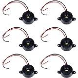 SJUNJIE 6 Stks Piezo Elektronische Zoemer 12 V Tone Actieve Alarm Elektronische Zoemer Alarmlamp DC 3-24 V met Draadleidingen