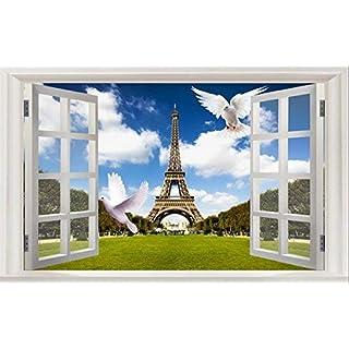 Willsego 3d tridimensionali muro adesivi false finestre nella stanza da salotto sfondo sfondo muro adesivi adesivi adesivi creativo autoadesivi impermeabile,due,piccolo (Color : Il Grande, Size : 16)