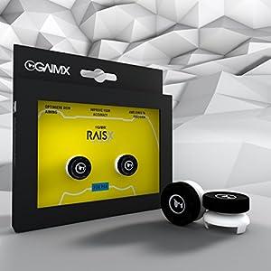 GAIMX Zielhilfe für PS4 inkl. 8-in-1 Adapterset – Premium RAISX Thumbstickverlängerung mit wechelbarem Grip – Aim-Verbesserung für Shooter bis zu 50%