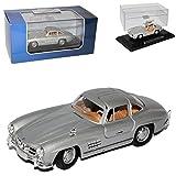 alles-meine.de GmbH Mercedes-Benz 300SL Coupe Silber W198 1954-1963 mit öffnenden Flügeltüren 1/43 Atlas Modell Auto