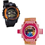 Shanti Enterprises Combo Princess 24 Images Projector Watch And Sports Watch Multi Color Dial For Kids - B07572DSRD