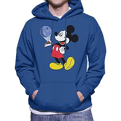 Mickey Mouse Death Star Plans Star Wars Men's Hooded Sweatshirt