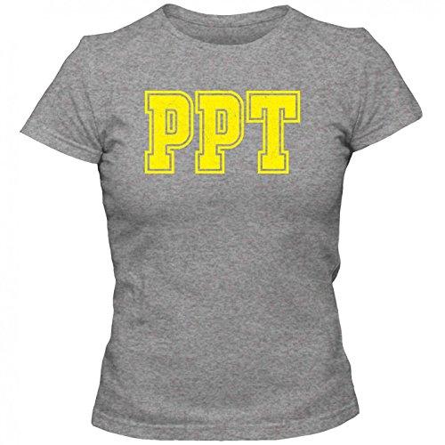 PPT Premium T-Shirt | Airport-Shirt | Tahiti | Reisen | Frauen | Shirt © Shirt Happenz Graumeliert (Grey Melange L191)