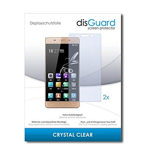 disGuard® Bildschirmschutzfolie [Crystal Clear] kompatibel mit Gionee Marathon M5 lite [2 Stück] Kristallklar, Transparent, Unsichtbar, Extrem Kratzfest, Anti-Fingerabdruck - Panzerglas Folie, Schutzfolie