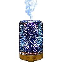 Souarts 3D Glass Aroma Diffuser Duftlampen 3D Glas 100ml Nachtlampe mit 7 Farben Luftbefeuchter Nachtlicht Oil... preisvergleich bei billige-tabletten.eu