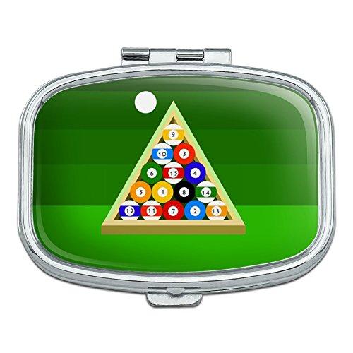 Billard Kugeln und Triangle Pool Tisch Rechteck Pille Fall Schmuckkästchen Geschenk-Box