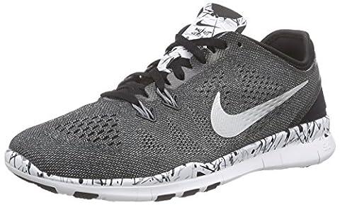 Nike Damen Free 5.0 Tr Fit 5 Prt Leichtathletikschuhe, Grau (Schwarz/Weiß/Kühles Grau/Silber Metallic 019), 37.5